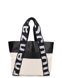 Bolsa tote de cuero en negro y blanco de Proenza Schouler