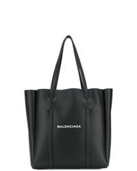 Bolsa tote de cuero estampada en negro y blanco de Balenciaga