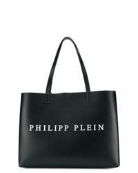 Bolsa tote de cuero estampada en negro y blanco de Philipp Plein