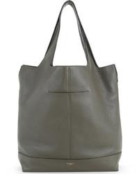 Bolsa tote de cuero gris de Givenchy