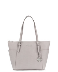 Bolsa tote de cuero gris de Michael Kors Collection