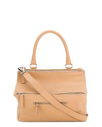 Bolsa tote de cuero marrón claro de Givenchy