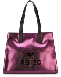 Bolsa Tote de Cuero Morado de Kenzo
