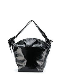 Bolsa Tote de Cuero Negra de Isabel Marant