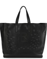 Bolsa Tote de Cuero Negra de Ralph Lauren