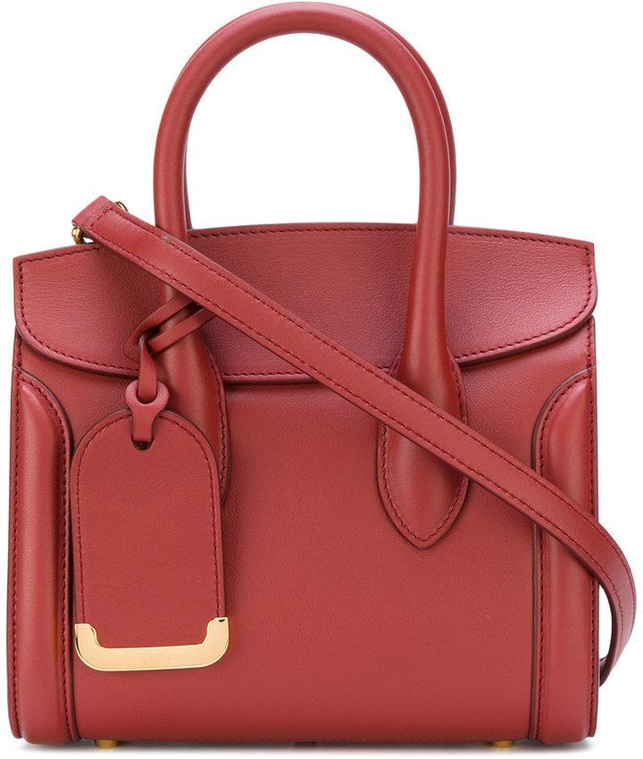 7e09b579b9e ... Bolsa tote de cuero roja de Alexander McQueen ...