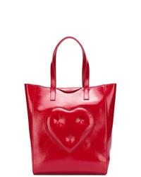 Bolsa tote de cuero roja de Anya Hindmarch