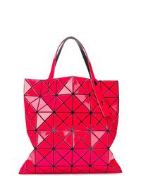 Bolsa tote de cuero roja de Bao Bao Issey Miyake