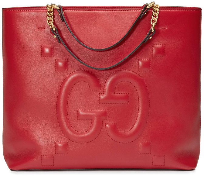 9dbd9a5ac Bolsa tote de cuero roja de Gucci, MEX$45,362   farfetch.com ...