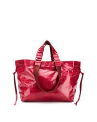Bolsa tote de cuero roja de Isabel Marant