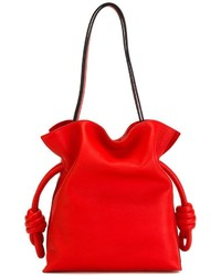 Bolsa Tote de Cuero Roja de Loewe