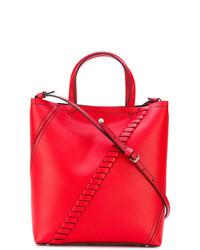 Bolsa tote de cuero roja de Proenza Schouler
