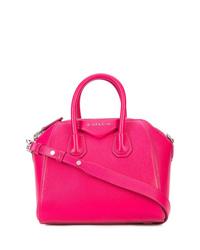 Bolsa tote de cuero rosa de Givenchy