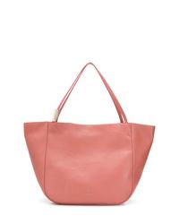 Bolsa tote de cuero rosada de Jimmy Choo