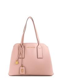 Bolsa tote de cuero rosada de Marc Jacobs