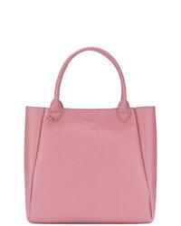 Bolsa tote de cuero rosada de Twin-Set