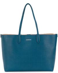 Bolsa Tote de Cuero Verde Azulado de Alexander McQueen