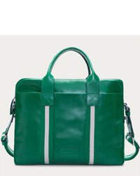 Bolsa tote de cuero verde