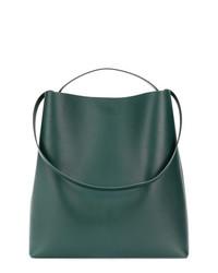 Bolsa Tote de Cuero Verde Oscuro de Aesther Ekme