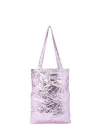 Bolsa tote de cuero violeta claro de Sies Marjan