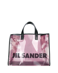Bolsa tote de goma transparente de Jil Sander