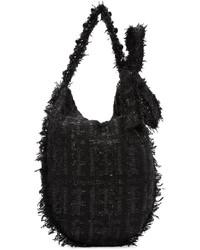 Bolsa tote de lana negra