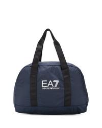 Bolsa tote de lona azul marino de Ea7 Emporio Armani