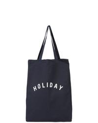 Bolsa tote de lona azul marino de Holiday