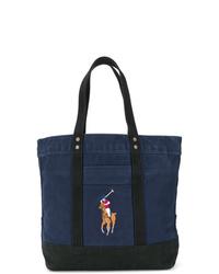 Bolsa tote de lona azul marino de Polo Ralph Lauren