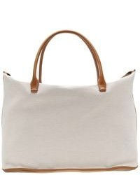 Bolsa Tote de Lona Blanca de The Row