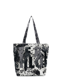 Bolsa tote de lona efecto teñido anudado en negro y blanco de See by Chloe