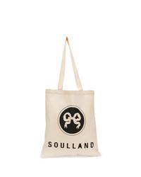 Bolsa tote de lona en beige de Soulland