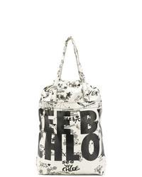 Bolsa Tote de Lona Estampada Blanca y Negra de See by Chloe