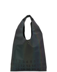 Bolsa tote de lona estampada en gris oscuro de Maison Margiela