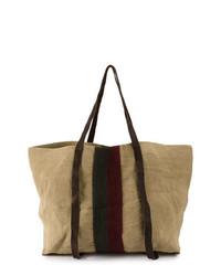 Bolsa tote de lona marrón claro de Uma Wang