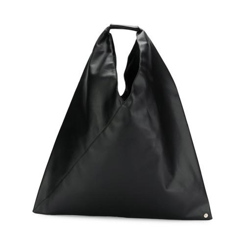 Bolsa tote de lona negra de MM6 MAISON MARGIELA