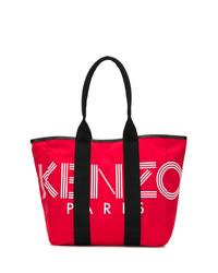 Bolsa tote de lona roja de Kenzo