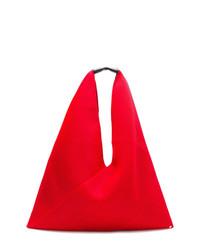 Bolsa tote de lona roja de MM6 MAISON MARGIELA