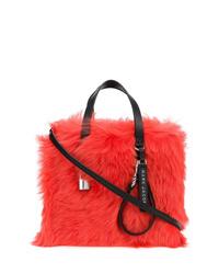 Bolsa tote de pelo roja de Marc Jacobs