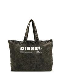 Bolsa Tote Negra y Blanca de Diesel