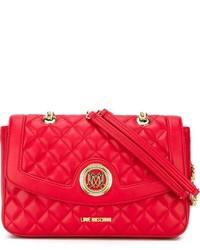 Bolso acolchado rojo de Love Moschino