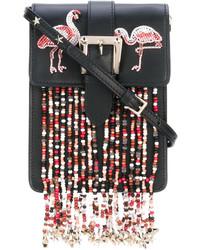 Bolso bandolera con cuentas negro de RED Valentino