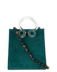 Bolso Bandolera de Ante en Verde Azulado de Lizzie Fortunato Jewels