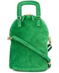 Bolso bandolera de ante verde de Barbara Bui