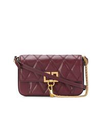 Bolso bandolera de cuero acolchado burdeos de Givenchy