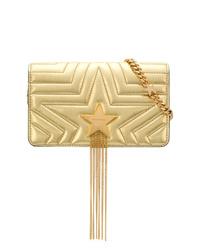 Bolso bandolera de cuero acolchado dorado de Stella McCartney