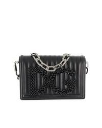 Bolso bandolera de cuero acolchado negro de Dolce & Gabbana