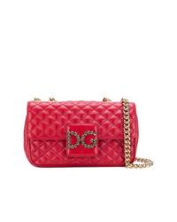 Bolso bandolera de cuero acolchado rojo de Dolce & Gabbana
