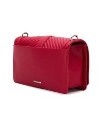 Bolso bandolera de cuero acolchado rojo de Rebecca Minkoff