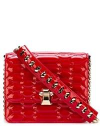 Bolso bandolera de cuero acolchado rojo de Roberto Cavalli